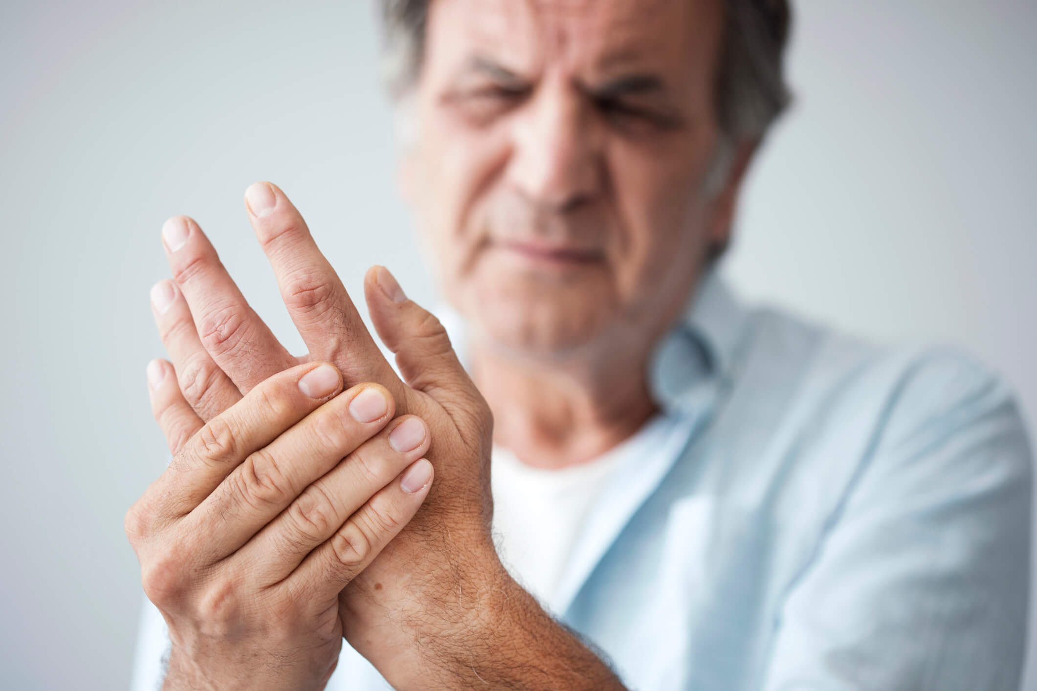Man with hand pain