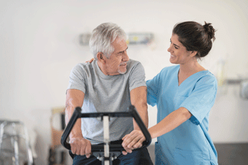 Cardiopulmonary rehabilitation doctor and patient